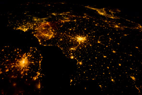 Northwestern Europe at Night