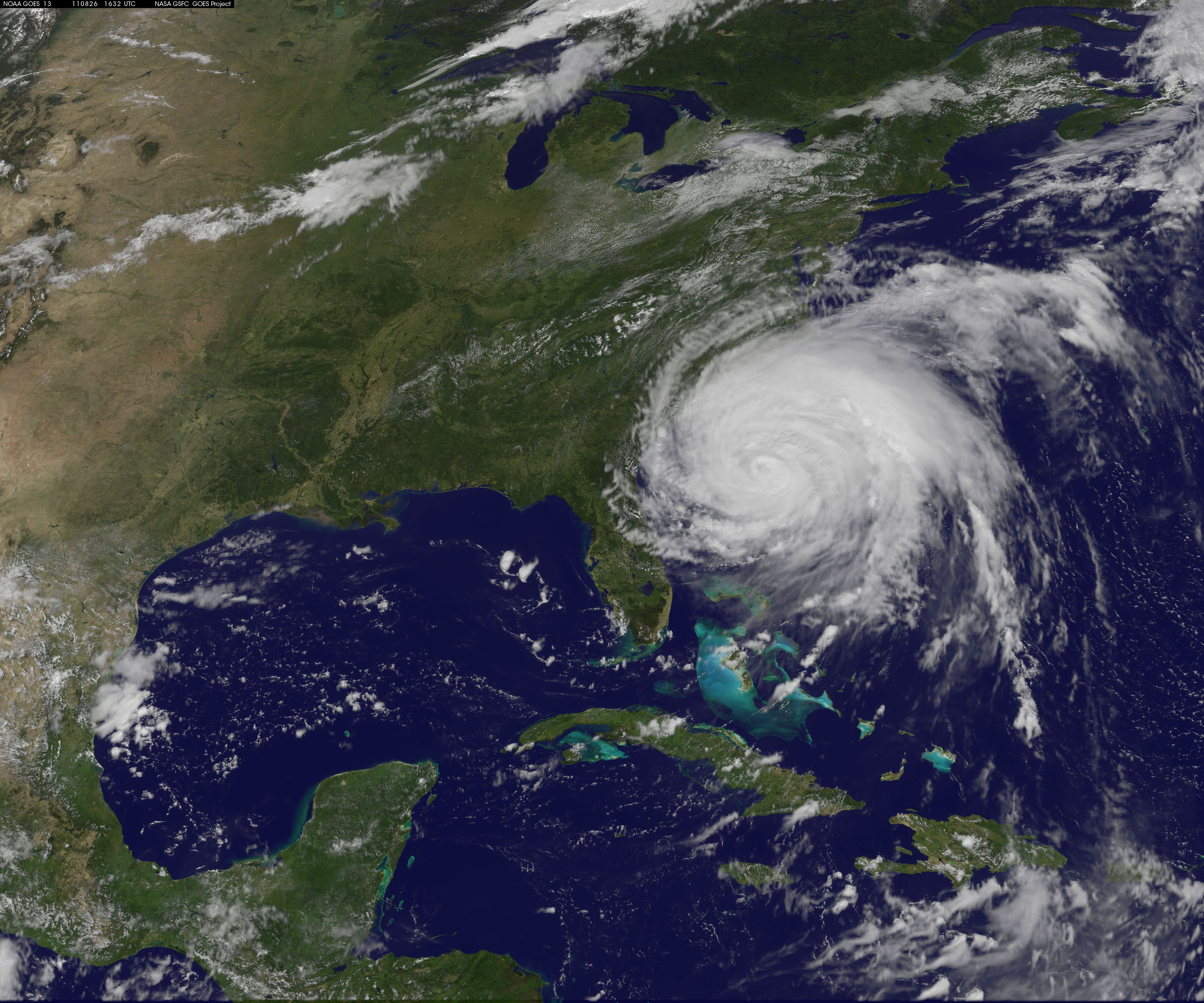 Image of Hurricane Irene from NASA