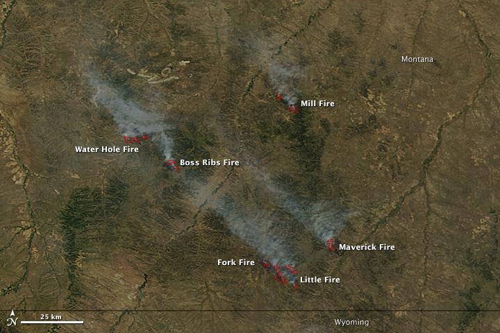 Lightning Fires in Montana