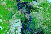 Flooding along the Mekong River