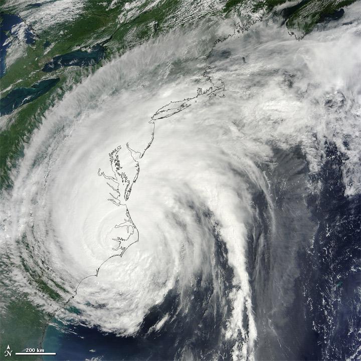 Hurricane Irene over the U.S. East Coast