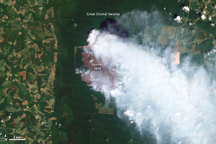 Hurricane Irene Dampens Great Dismal Swamp Fire