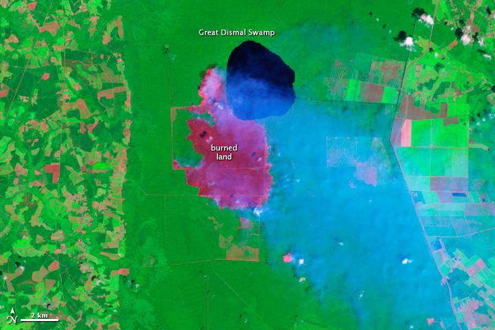 Hurricane Irene Dampens Great Dismal Swamp Fire