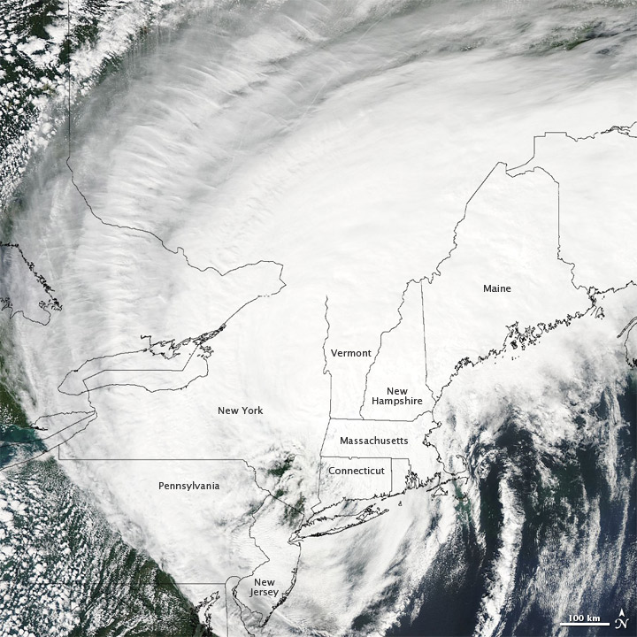 Hurricane Irene over the U.S. Northeast