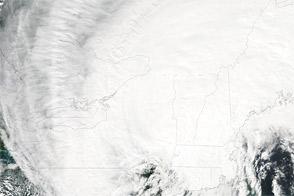 Hurricane Irene over the U.S. Northeast