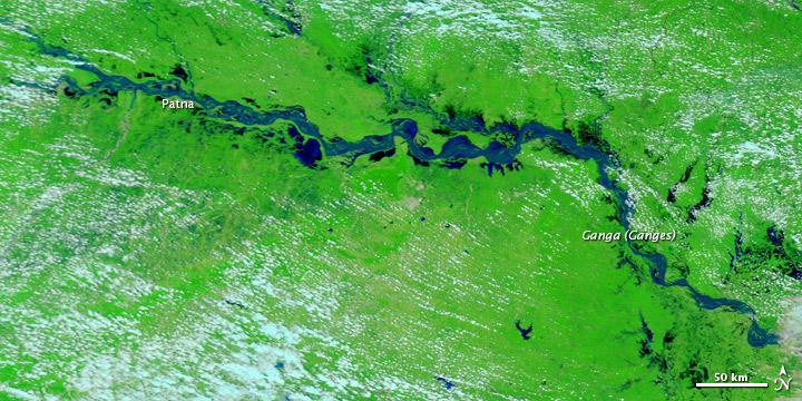 Rising Water along the Ganga River