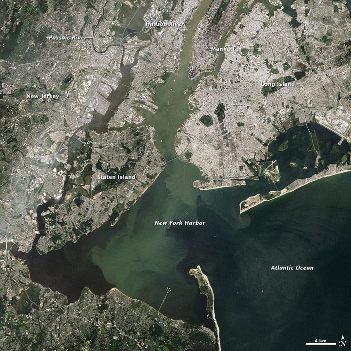 Irene's Sediment in New York Harbor