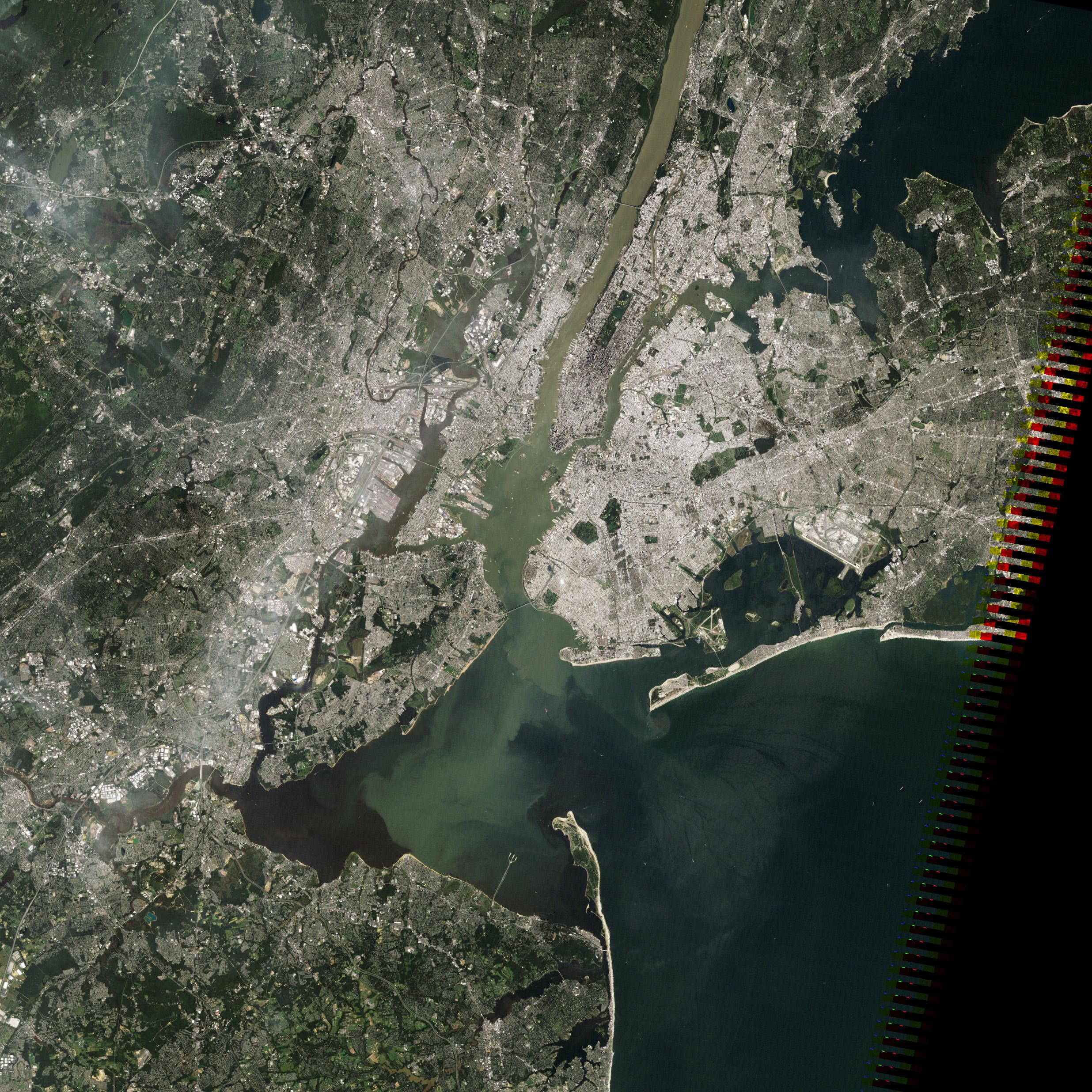 Map Of New York Harbour.Irene S Sediment In New York Harbor