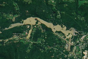 Flooding Fills Vermont Reservoir