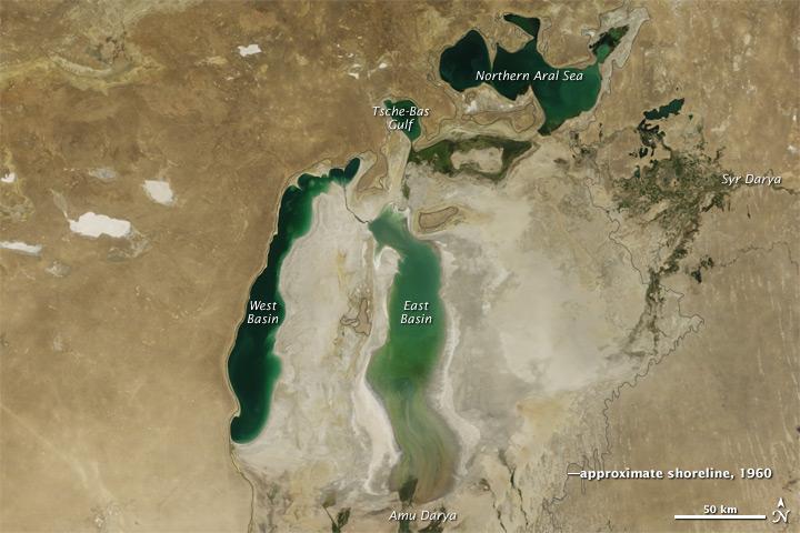 Aral Sea 2011