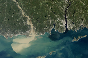 Sediment Spews from Connecticut River