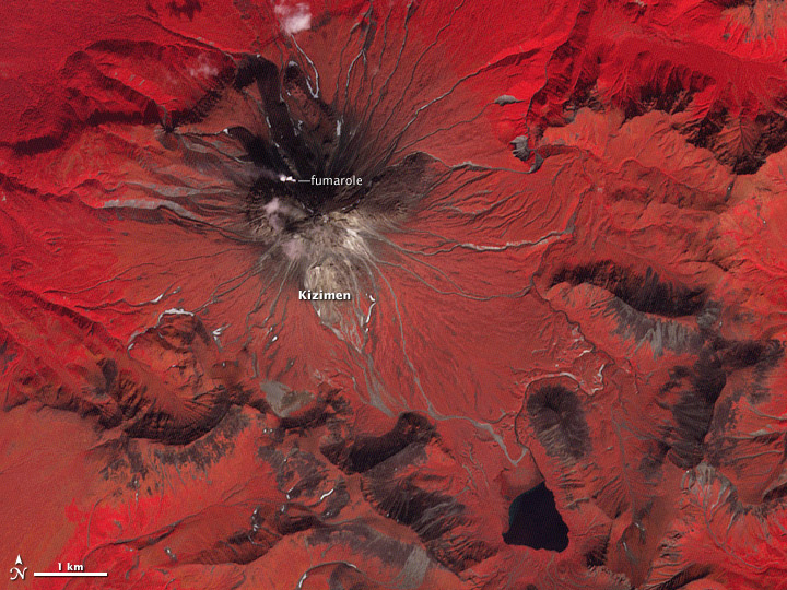 Lava Flow on Kizimen Volcano