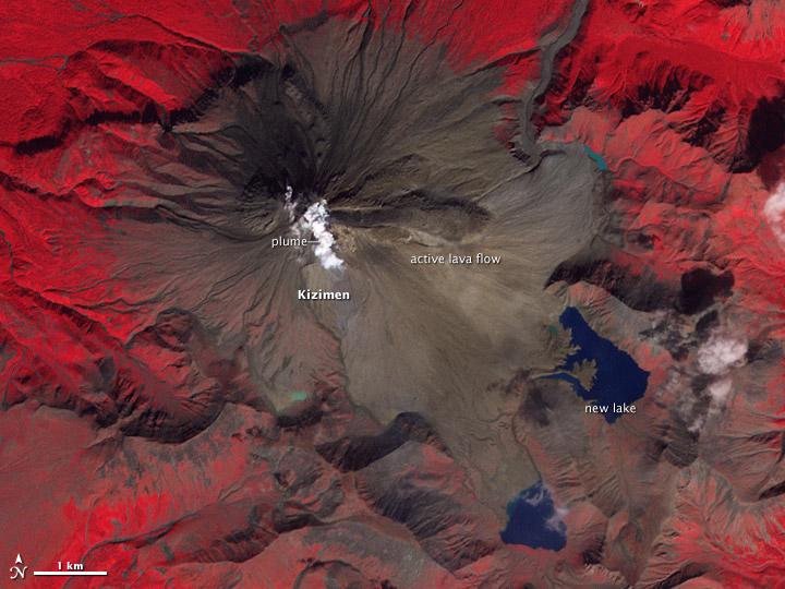 Lava Flow on Kizimen Volcano