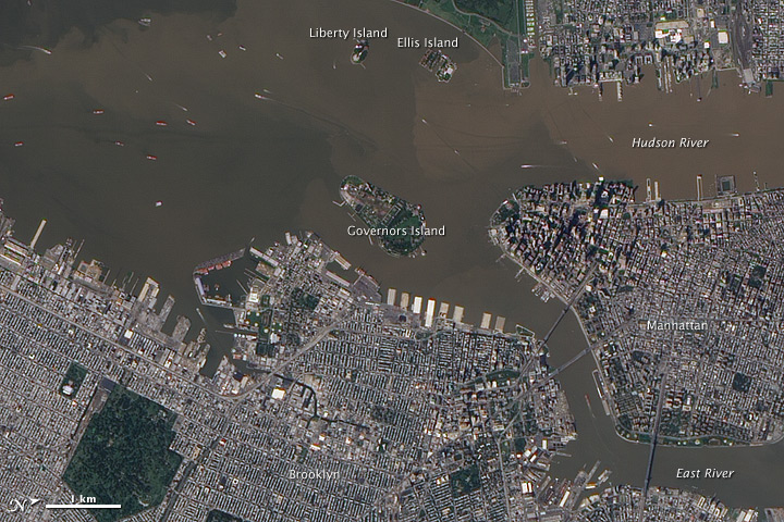 Sediment Plumes in the Hudson River