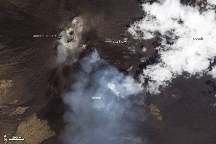 Lava Flows and Volcanic Plume on Etna