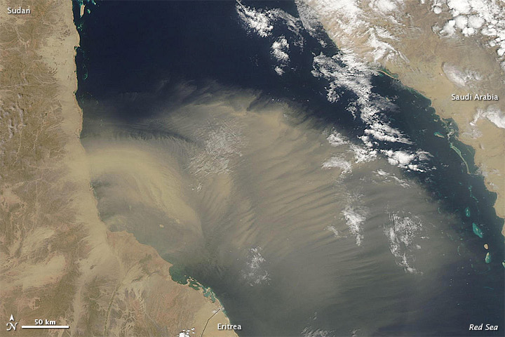Dust over the Red Sea