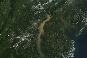 Sediment Clouds the Chesapeake Bay