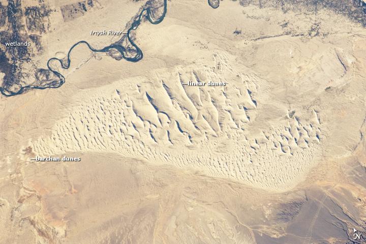 Sand Dunes, Junggar Basin, Northwestern China