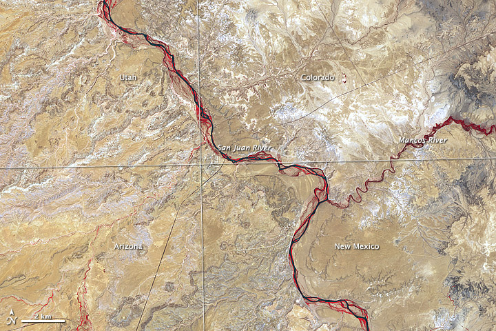 Four Corners Southwestern US Image Of The Day - Us map 4 corners