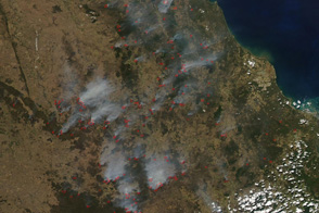 Fires in Queensland, Australia