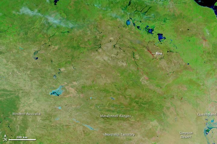 Vast Area Burned in Australia