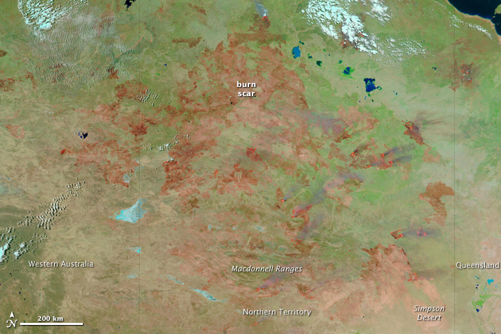 Vast Area Burned in Australia