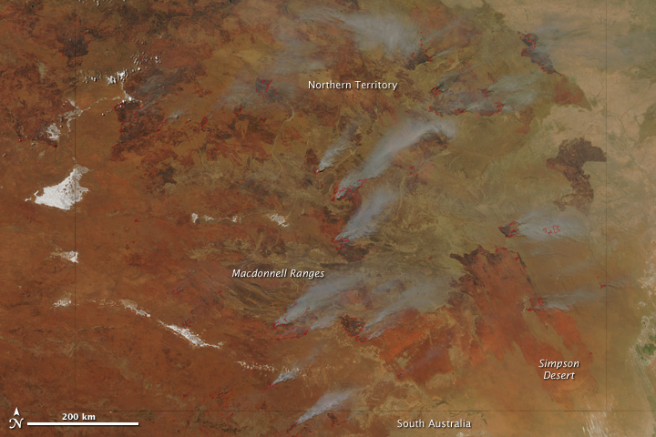 Fires in Northern Territory, Australia