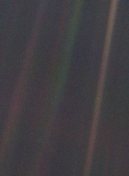 'Pale Blue Dot' image taken by Voyager 1, 1990. Credit: NASA J
