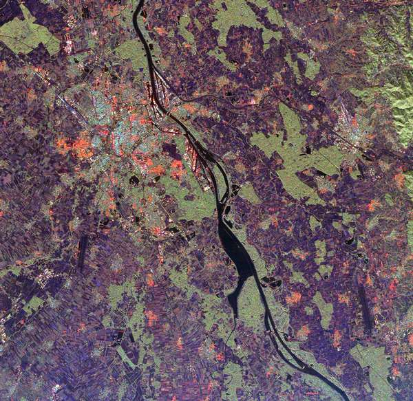 Space Radar Image of Rhine River, France and Germany - related image preview
