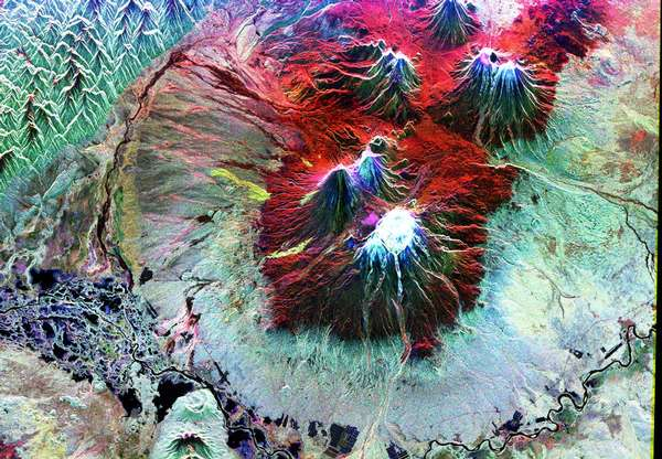 Space Radar Image of Kiluchevskoi, Volcano, Russia - related image preview