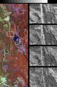Space Radar Image of Great Wall of China - selected image