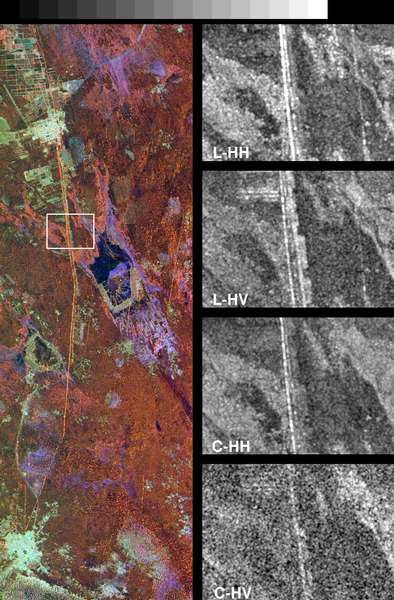 Space Radar Image of Great Wall of China - related image preview