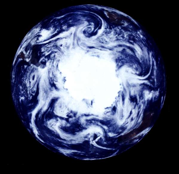 NASA Visible Earth: South Polar Projection of Earth