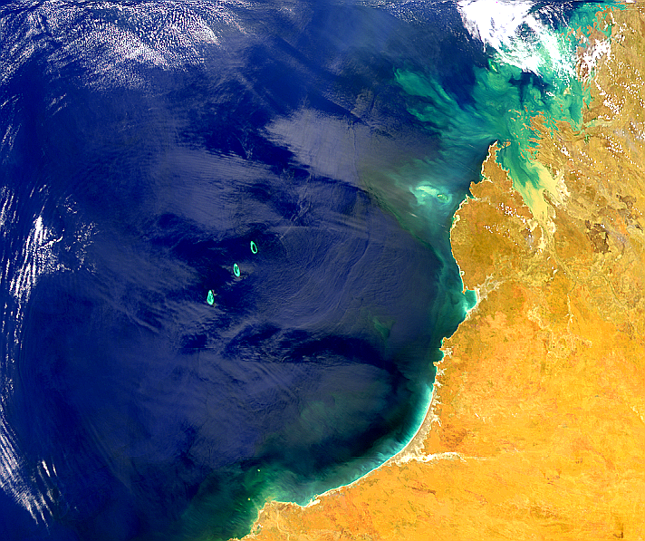 Complex Sunglint Over NW Australia - related image preview