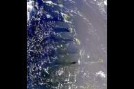 Island Wakes and Sunglint in the Windward Islands