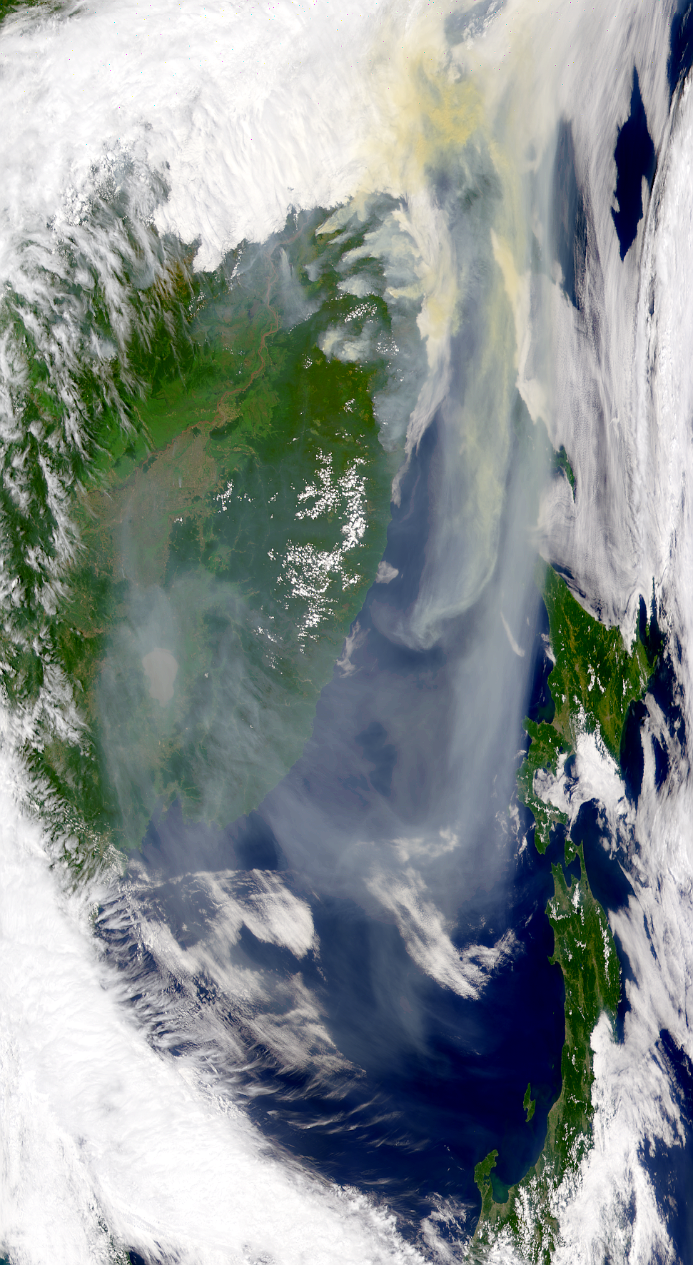 Russian Smoke Over Seas of Okhotsk and Japan - related image preview