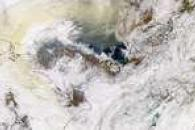 Smoke Over Chukchi Sea