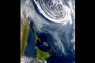 Swirling Smoke from Sakhalin