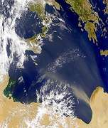 Libyan Dust Plume - selected image
