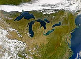 Great Lakes from SeaWiFS - selected image