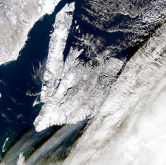 Large Cloud Shadows Near Newfoundland - related image preview