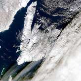 Large Cloud Shadows Near Newfoundland - selected image