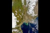 Rhone Valley and Sediment Plume