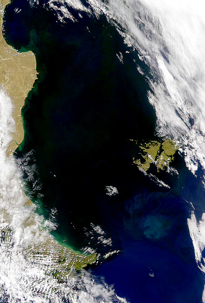 Low Radiances East of Argentina - related image preview