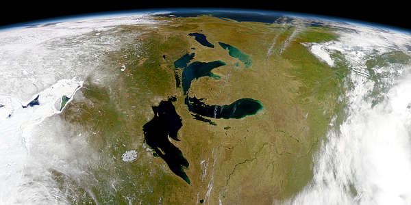 Great Lakes from SeaWiFS - related image preview