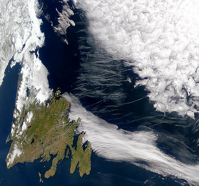 Contrails Over Newfoundland - related image preview