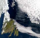 Contrails Over Newfoundland - selected image