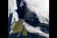 Contrails Over Newfoundland