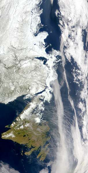 Contrails and Sea Ice - related image preview