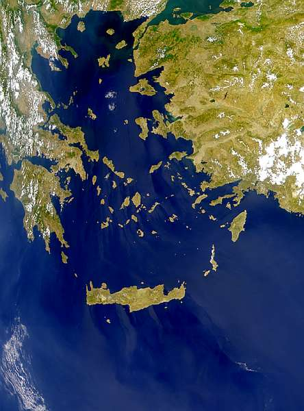 Haze or Sunglint Over the Aegean Sea - related image preview